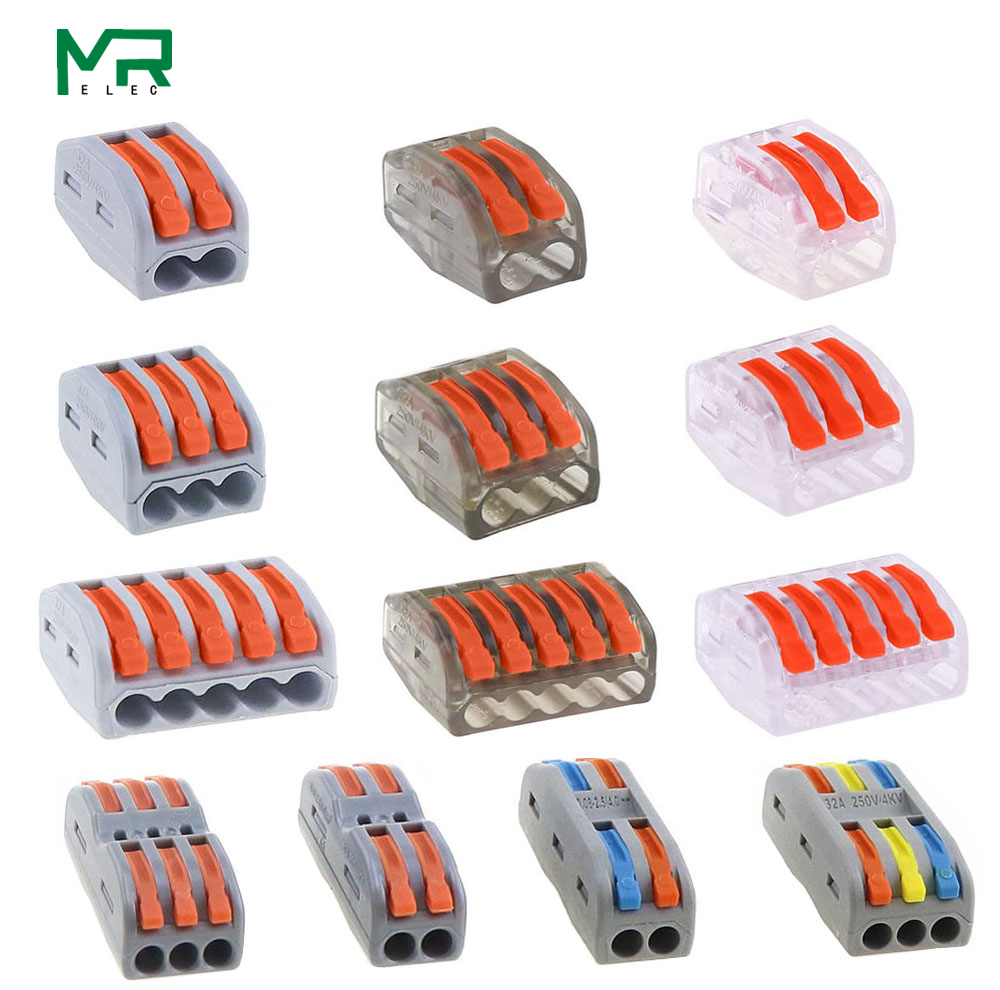 PCT-212  222-412  222-413  222-415 Compact Wire Wiring Connector,mini Fast High-quality Connector,   SPL-2 3