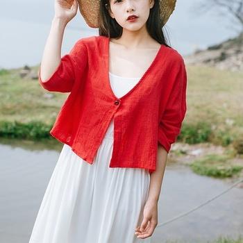 Odzież w stylu chińskim kobiety bluzka 2020 żółta chińska koszula Qipao bluzka bawełniana Online chiński sklep panie chińskie topy 11451 tanie i dobre opinie Tangslady COTTON Linen CN (pochodzenie) WOMEN Suknem