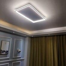 Современная светодиодная ультратонкая люстра NEO Gleam, квадратная/круглая потолочная лампа с дистанционным управлением через приложение для ...