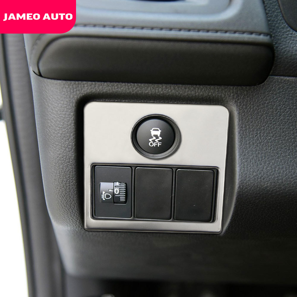 Car Headlight Switch Knob Protection Cover <font><b>Trim</b></font> Sticker Fit for <font><b>Honda</b></font> <font><b>HRV</b></font> HR-V Vezel 2014 2015 2016 2017 2018 2019 image