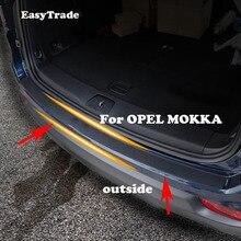 Car Styling Rear Door Sill Plate Protector Anti-Scuff Trunk Outside Door Sill Sticker For OPEL MOKKA Accessories Interior недорого