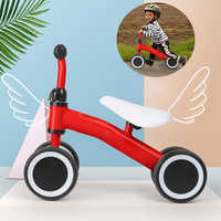 Baby Balance Bike Kids Toddler Walker Children 4 Wheels Push Bicycle For 1-3 Years Old Boys Girls