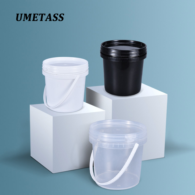 1 Liter Clear Plastic Bucket With Lid Food Grade PP Material Storage Container Refillable Bottle For Food Cosmetic