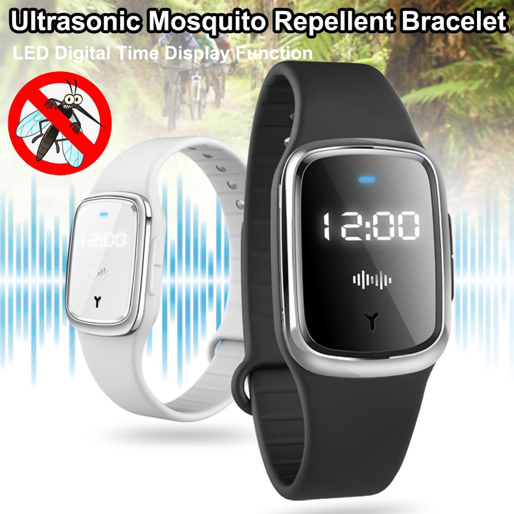 Ultrasonic Natural Anti-Mosquito Insect Pest Bracelet Mosquito Repellent Watch Summer Outdoor Camping Anti-Mosquito Tool
