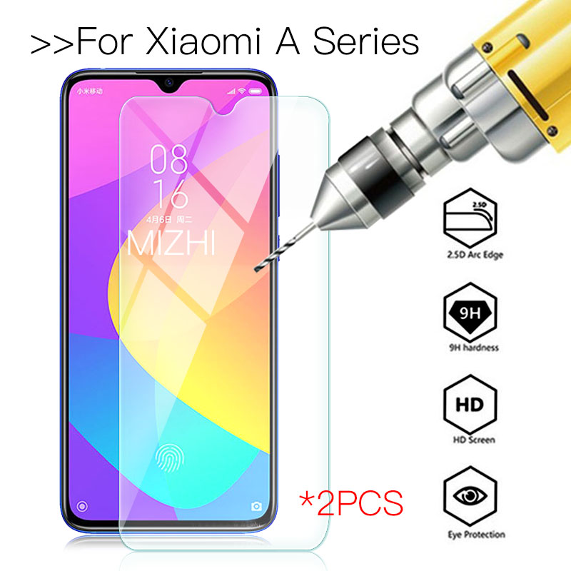 2PCS For <font><b>Xiaomi</b></font> <font><b>a3</b></font> Light Protective <font><b>glass</b></font> mi a2 lite A1 Screen Protector On Ksiomi My A 1 2 3 2A 3A A2Lite armor Tempered Glas image
