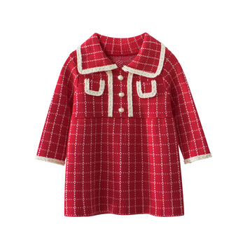 Kids Girls Long Sleeve Kids Sweaters Dress Winter Autumn Knitted Cardigan Spring Clothing Children Baby Girl 1 2 3 4 5 6 7 Years new 2015 autumn winter baby sweaters children clothing kids sweaters baby boys casual knitwear pullover