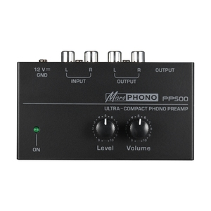 Image 1 - Hot 3C Pp500 Ultra Compact Phono Preamp Preamplifier with Level & Volume Controls Rca Input & Output 1/4 Inch Trs Output Interfa