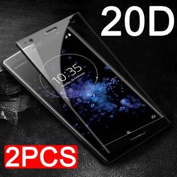 Перейти на Алиэкспресс и купить 2 шт 20D полное закаленное стекло для sony Xperia XZ4 XZS XZ Premium 1 2 4 S XZ1 XZ2 компактная Защитная пленка для экрана Защитная стеклянная пленка