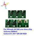 2000 мл AC300 один раз чип для Mimaki TX500-1800DS/TX500-1800B/TS500-1800/UJF3042/UJF6042 7 шт./компл. одноразового использования чип AC300