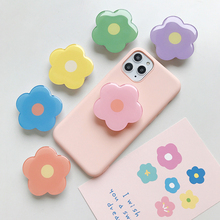 New epoxy resin universal fresh and lovely flowers foldable airbag bracket mobile phone ring accessories