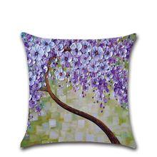 Высококачественный чехол для подушки разноцветный льняной Хлопковый