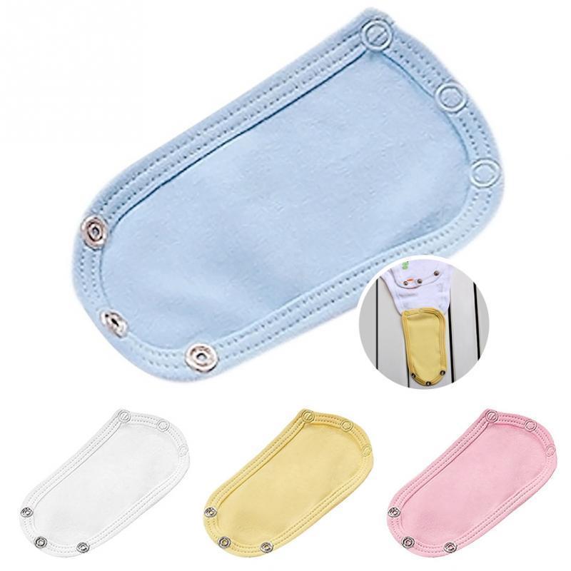 4Pcs/Set Lovely Baby Boys Girls Kids Jumpsuit Diaper Lengthen Extender Extension Solid Soft Jumpsuit Bodysuit Extender 1