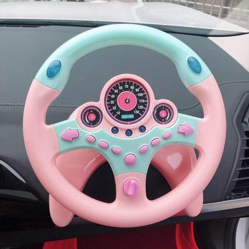 Cute Children Steering Wheel Toy with Light Simulation Driving Sound Music funny Educational Baby Electronic Travel kids toys