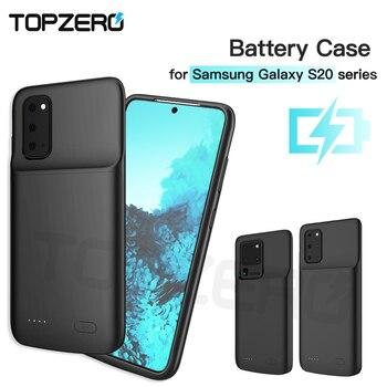 Para Samsung S20 Ultra caja de batería 6000mah portátil Ultra-Delgado Powerbank de carga de funda para Samsung externo Galaxy S20 Plus
