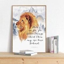 Narnia Art Print C.S. Lewis Quotes Poster Canvas Prints Inspirational Kalligrafie Schilderen Bijbel Vers Woonkamer Home Decor