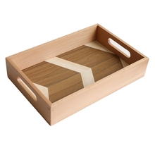 Чайный набор, чайный поднос, деревянный поддон для фруктового торта, нордический прямоугольный ремень, ручка для дома, ресторана, еды, поддон для хранения, кухонный, бытовой