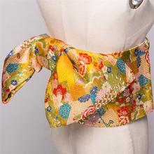 14 kolorów tradycyjny japoński Yukata Kimono Obi pas kwiatowy Print Cummerbunds Bow-knot szlachetny Retro japoński pas tanie tanio WOMEN COTTON Odzież azji i pacyfiku wyspy Pełna Tradycyjny odzieży Japanese Obi One Belt