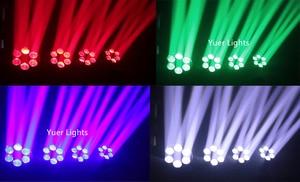 Image 5 - שישה דבורה עין לייזר מופע אור 6X10W RGBW 4IN1 Beam הזזת ראש אורות Dj לייזר ריקוד מקרן עבור דיסקו אור מוסיקה מסיבת אורות