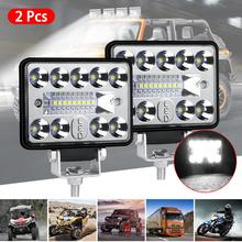 2pcs 57W 4in Car LED Work Light Bar Driving Lamp for Offroad Boat Tractor Truck SUV Fog Light 12V 24V Headlight for ATV Led Bar стоимость