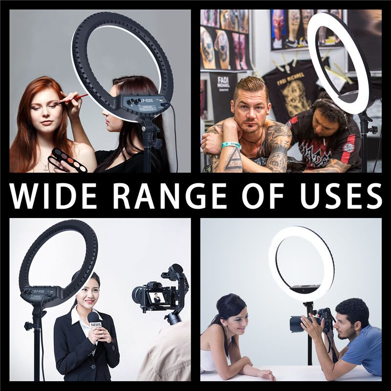 Hd7fa5ea3dd77403c979fb326ac29af9cW fosoto LED Ring Light Selfie Photo Photography Lighting Ringlight lamp With Tripod Stand For Photo Studio Makeup Video Live Show