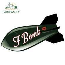 Earlfamily 13cm x 8.1cm para f bomba motocicleta adesivos de carro decalque à prova dwaterproof água estilo do carro personalidade oclusão zero decoração