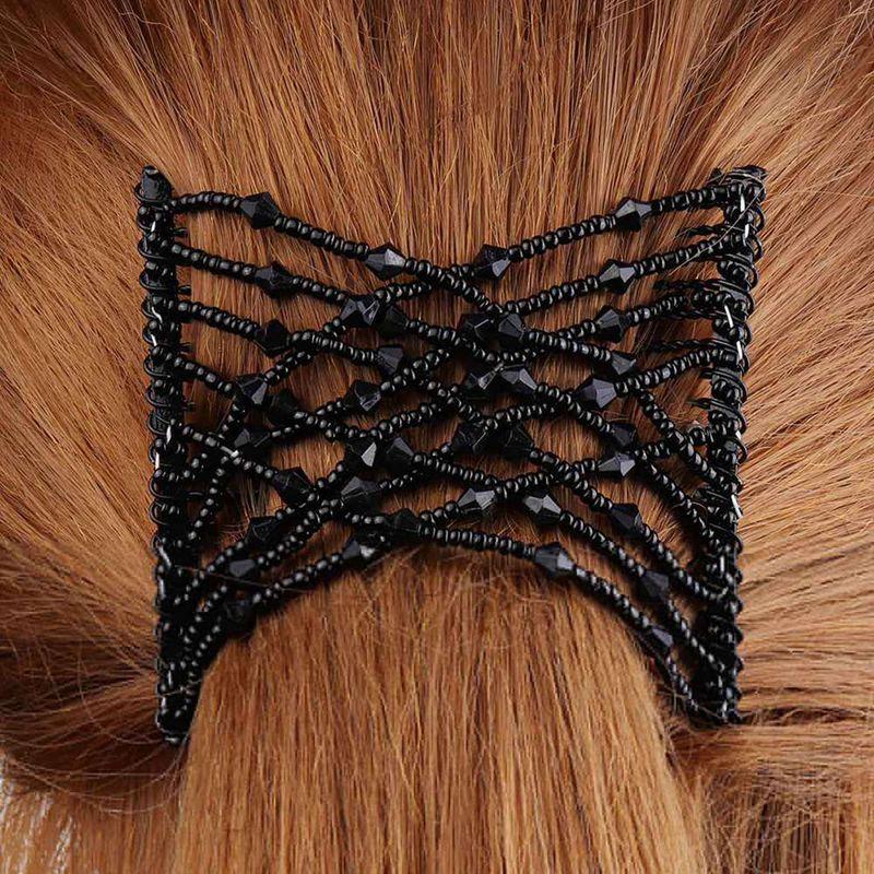 Fashion Hair Style Hairpin DIY Retro Headband Elastic Magic Hair Comb Hair Changer Hairpin Magic Comb Female Hair Accessories