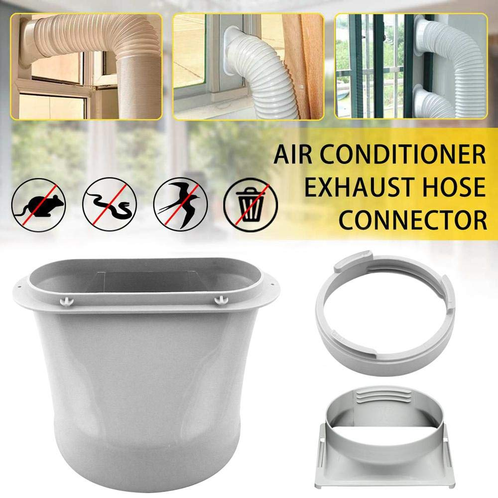 ABS Durable Adapter Portable Hose Connector Accessories White 15cm Practical Exhaust Duct Air Conditioner Interface Part|Vents|   - AliExpress