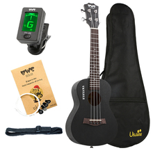 BWS EST & 1988 23 Inch Concert Ukulele Black Hawaiian Mini Guitar Rosewood Fretboard 4 Strings Mahogany Ukulele Music Uku 23 inch concert ukulele 4 strings hawaiian guitar rosewood fretboard mahogany body ukelele wholesale oem 2 colors for available
