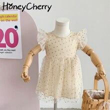 Children's dresses 2021 summer new baby girls lace dress princess dressBirthday suit