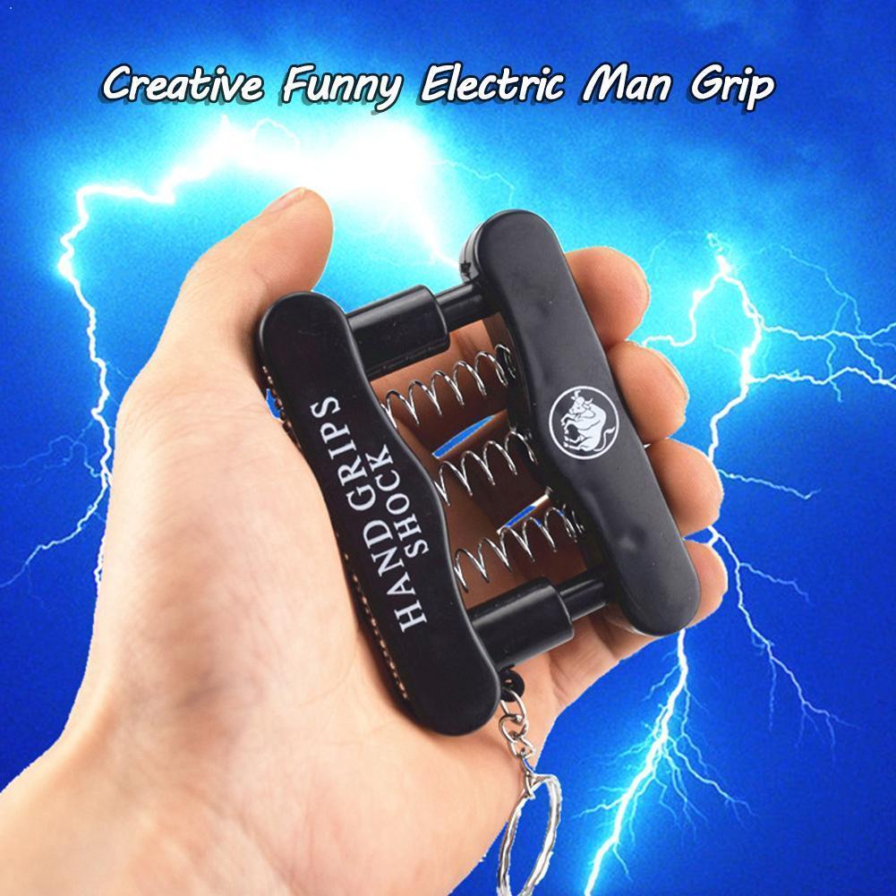 Prank Trick Toy Electric Hand Grip Shock Plastic Harmless Anti-stress Gadget Shocker Send Joke Electric Novelty Toy Random A6F3