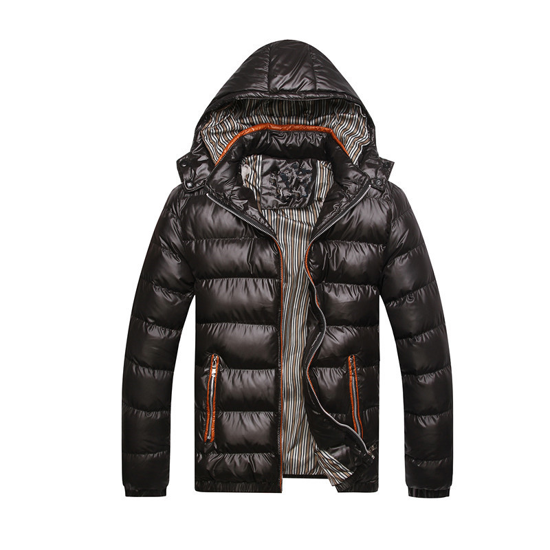 New Men Winter Jacket Fashion Hooded Thermal Down Cotton Parkas Male Casual Hoodies Brand Clothing Warm Coat Plus Size