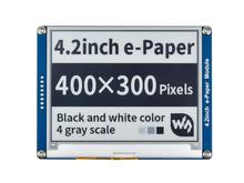 Waveshare Pantalla de tinta electrónica de 4,2 pulgadas, papel electrónico negro/blanco con interfaz SPI compatible con Raspberry Pi/Arduino/Nucleo/STM32 3,3 V/5V