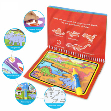 Многоразовая Волшебная водная книга для рисования, книга-раскраска, ручка для рисования из мультфильма, игрушки для рисования, доска для рисования для детей, подарок на день рождения