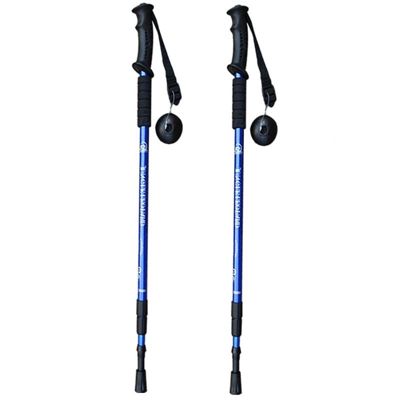 ajustável trekking telescópica escandinavo varas anti choque caminhadas vara