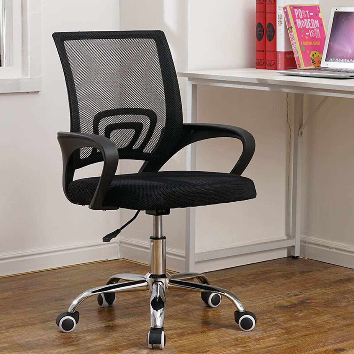 Black Ergonomic Office Chair Laptop Desk Chair Mesh Executive Computer Chair With Lumbar Support Height Adjustable US Stock