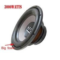 Top Quality 12inch 3000W 4ohmCar Audio Speaker Subwoofer Non press Cone Basket Cloth Van Loud Speakers