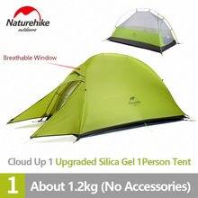 Naturerise-tente de Camping en Silicone ultralégère pour 1 personnes, mise à niveau Cloud Up, randonnée, 20D