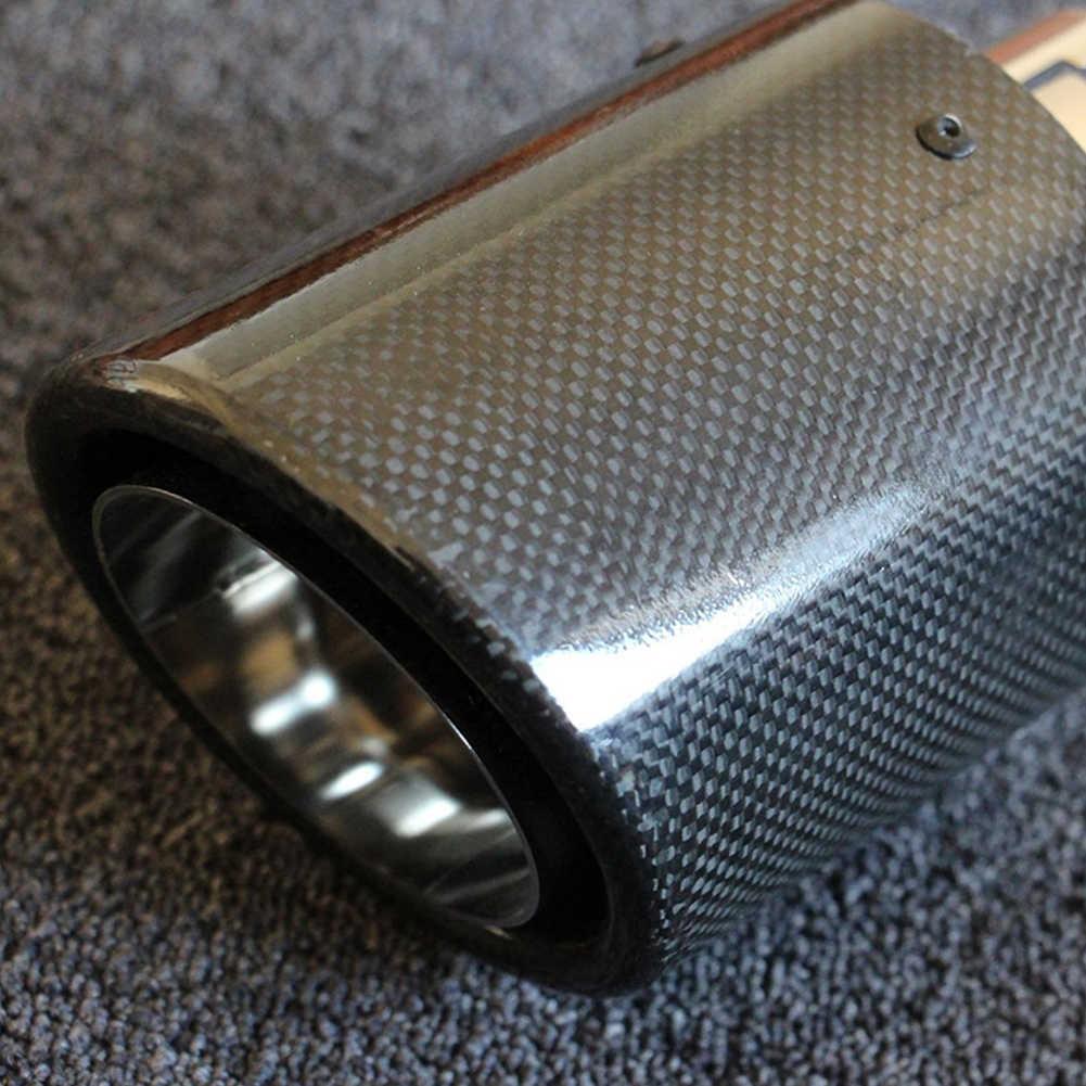 Modificado sistemas Universal para silenciador tubo coche cola de accesorios de Auto de fibra de carbono de salida directa estilo de punta de escape