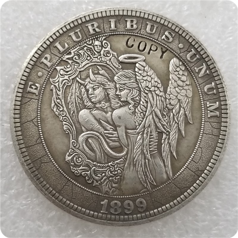 Монета № 30 _ Хобо, никелевая монета 1899-P, Морган, искусственные монеты, копия памятных монет