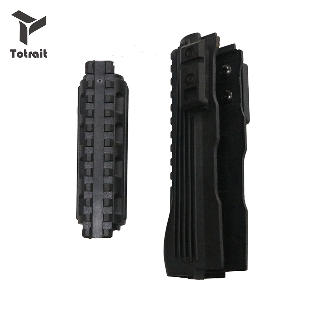 Hot Black Hunting Accessories Tactical Airsoft Shoot AK 47 Strikeforce Polymer Handguards Upper lower Picatinny Rails(China)