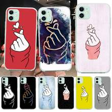PENGHUWAN Love on the finger kpop heart Printing Phone Case cover Shell for iPhone 11 pro XS MAX 8 7 6 6S Plus X 5S SE XR cover(China)