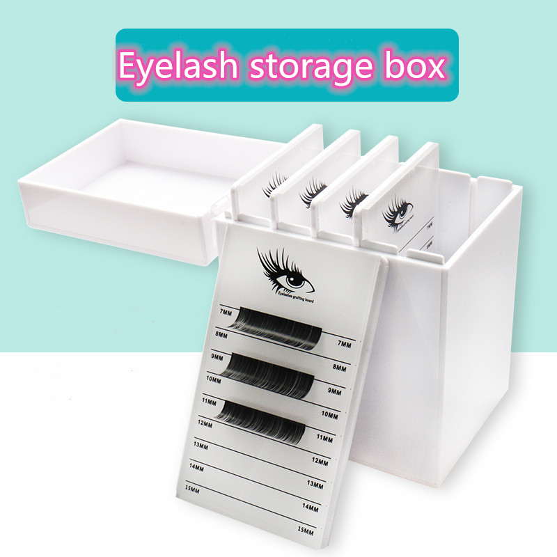 Sale Mink Lashes Eyelash Storage Box 5 Layers Makeup Organizer False Eyelashes Glue Pallet Holder Grafting Extension Tool