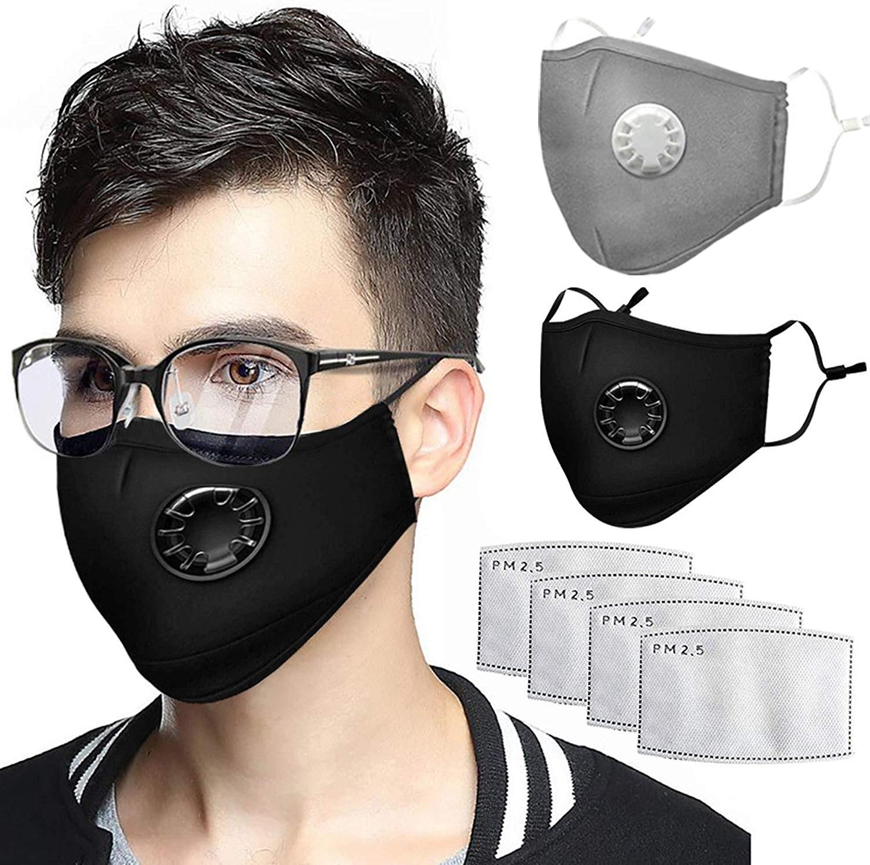 Repeatable Clean Mouth Mask Anti-dust Breathing Mask PM2.5 Anti-fog & Haze Black Mask Breath Fashion Women Men Mouth Muffle