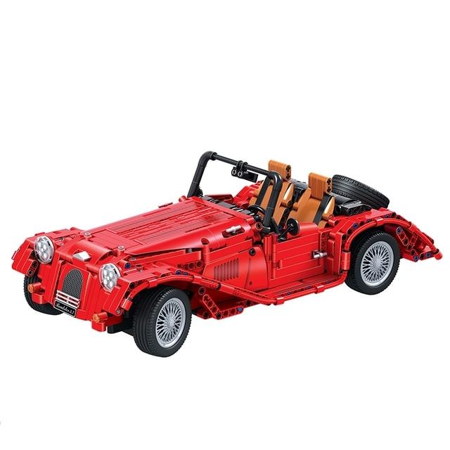 1141PCS High-Tech Creator Classic Vintage Convertible Car Building Blocks Sets Bricks Model Kids Toy For Children City 2