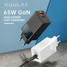 Chargeur KUULAA GaN chargeur de téléphone portable 65W prise de téléphone Charge rapide 4.0 3.0 USB Type C QC PD USB Charge rapide pour royaume-uni