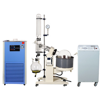 ZOIBKD 50L Lab Rotary Evaporator Customize Evaporator Evaporation Motor Lifting Turnkey Package w/Water Vacuum Pump &Chiller