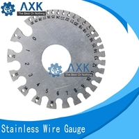 0 36 Round Wire Weld Diameter Gauge Welding Inspection Stainless Steel Inch Inspection A.W.G Gauges American Standard LT310 Hand Tool Sets Tools -