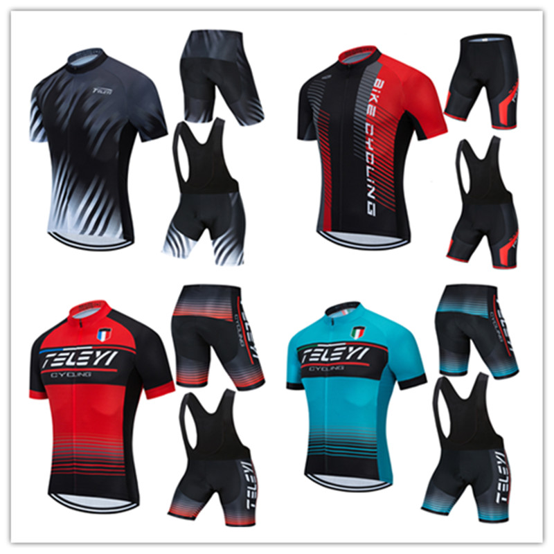 2020 teleyi Cycling Jersey Set Men's Summer Style Short Sleeve Cycling Clothing Sportswear Outdoor Mtb Ropa Ciclismo <font><b>Bike</b></font> <font><b>Wear</b></font> image