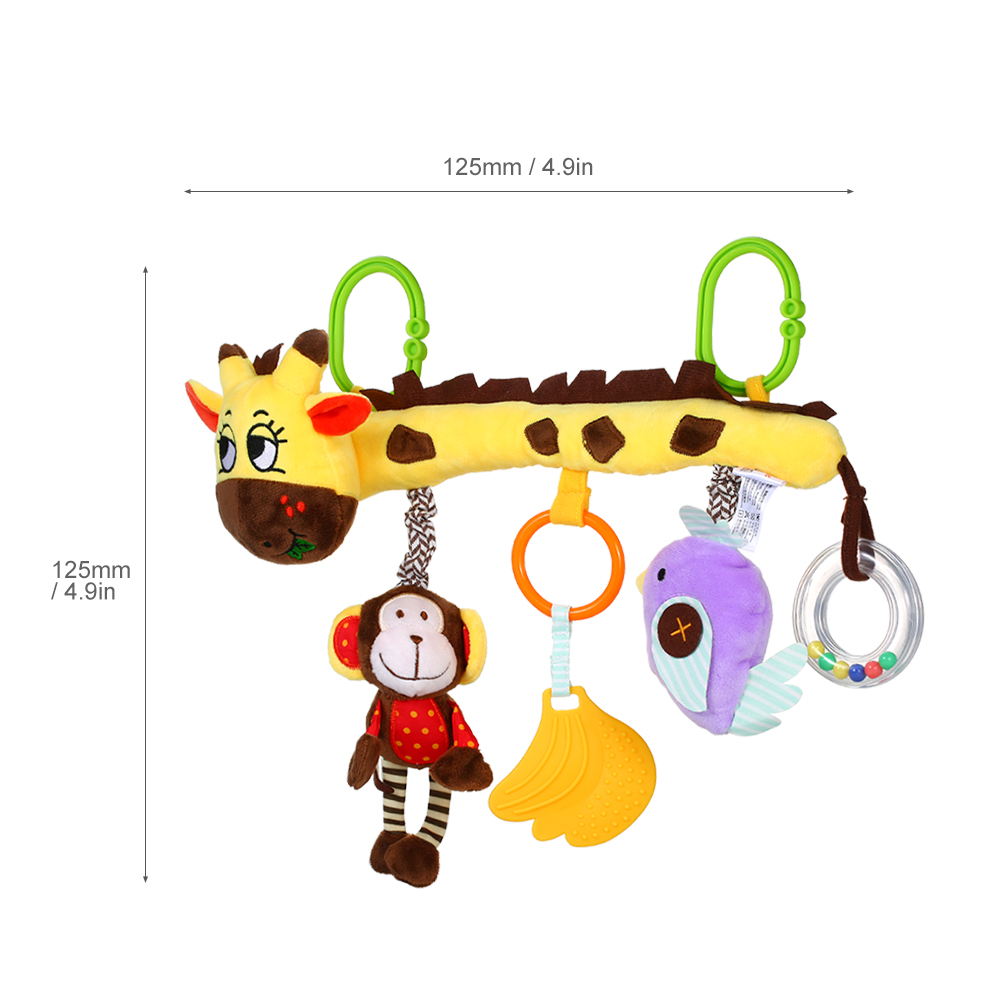 Baby Spiral Crib Stroller Car Seat Funny Hanging Rattles Toys For Home Travel