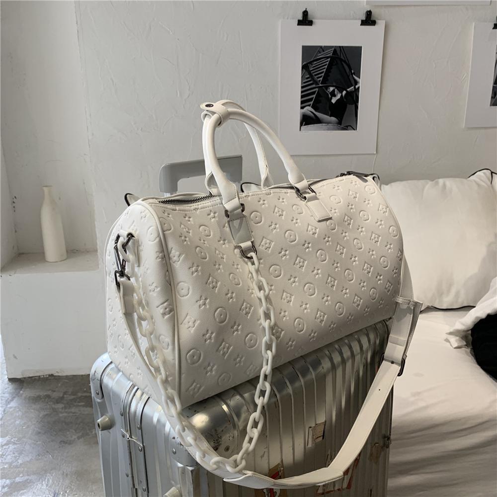 Brand Waterproof Large Capacity Hand Luggage Floral Oversize Traveling Bag Fashion Women Weekend Travel Laser Duffle Bag Handbag